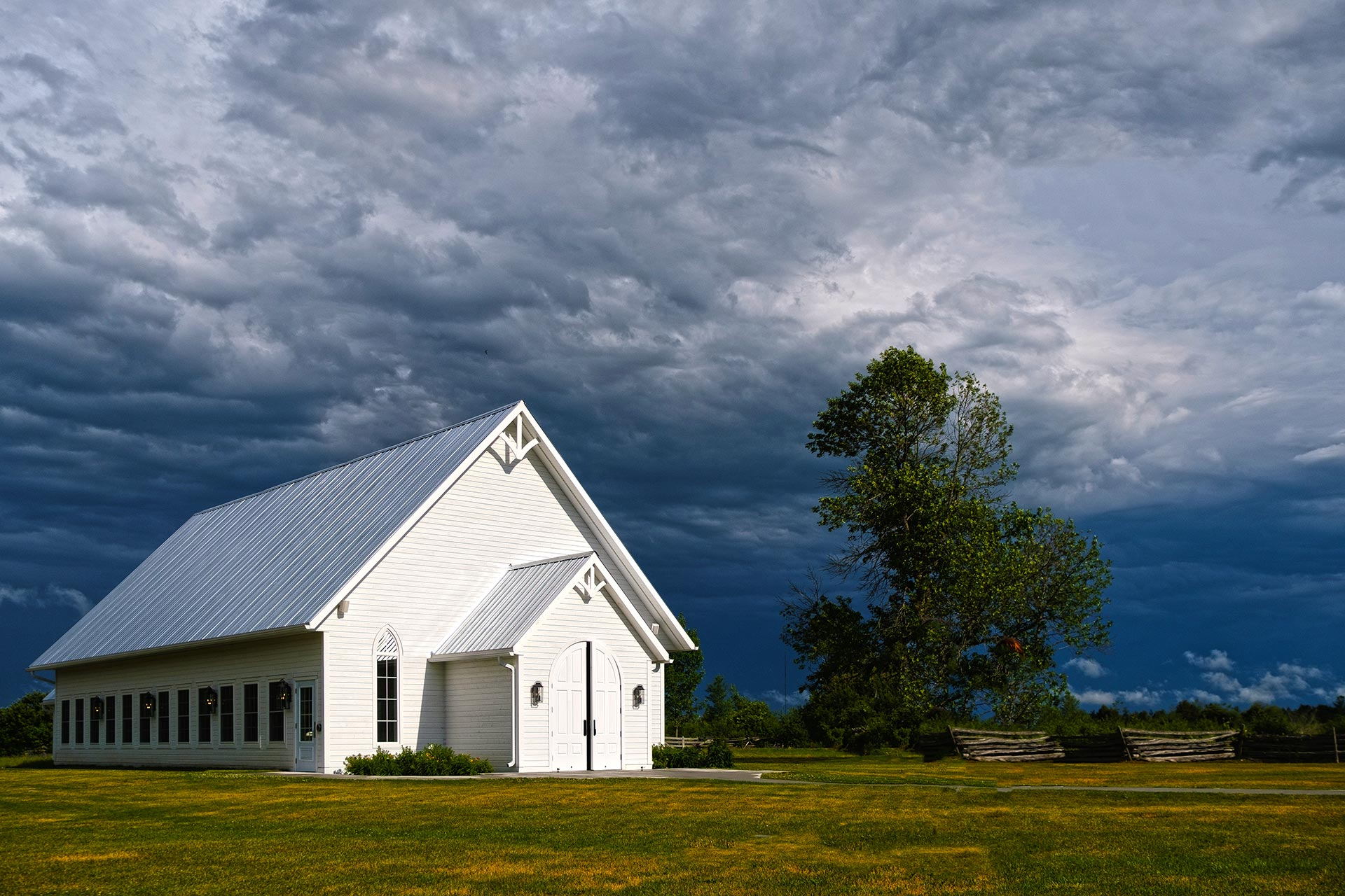Chapel and Wild Sky