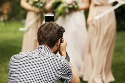Photographer and Bridesmaids