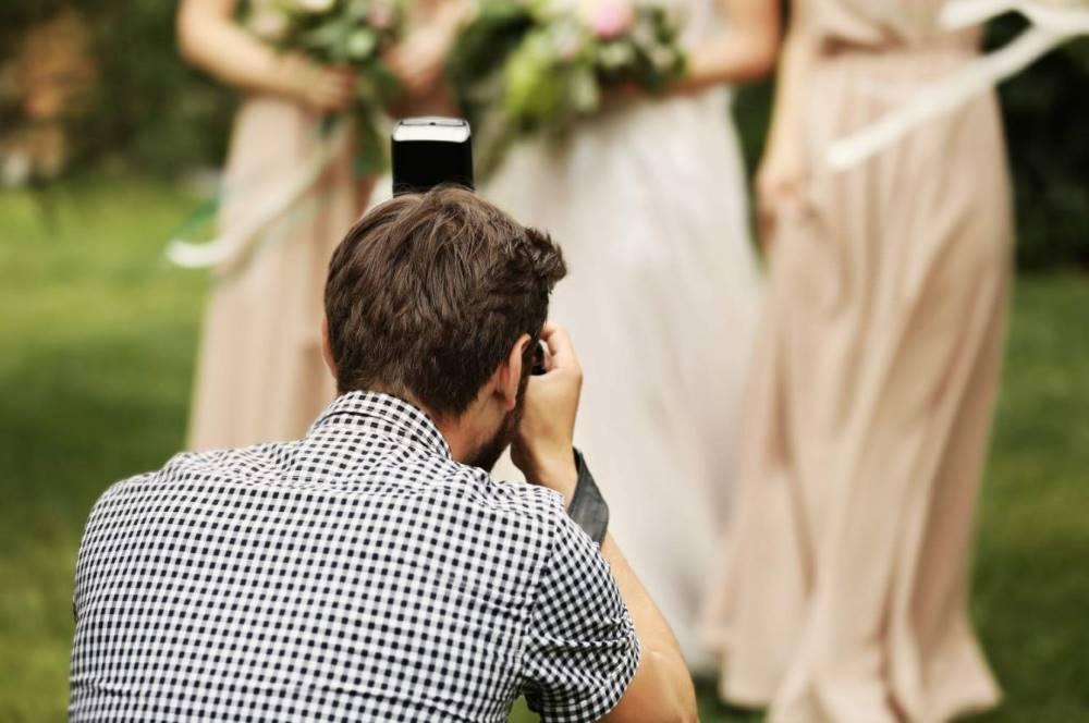 Photographer and Bridesmaids
